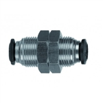 Alpha #50050N-6 6mm x 6mm Bulhead Union Push-In